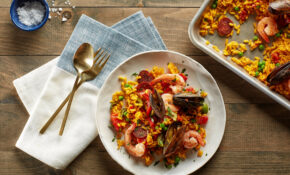 Sheet Pan Paella With Chorizo, Mussels, And Shrimp – Chorizo Recipes Dinner