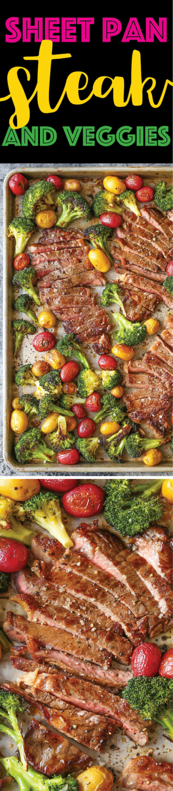 Sheet Pan Steak and Veggies - dinner recipes steak