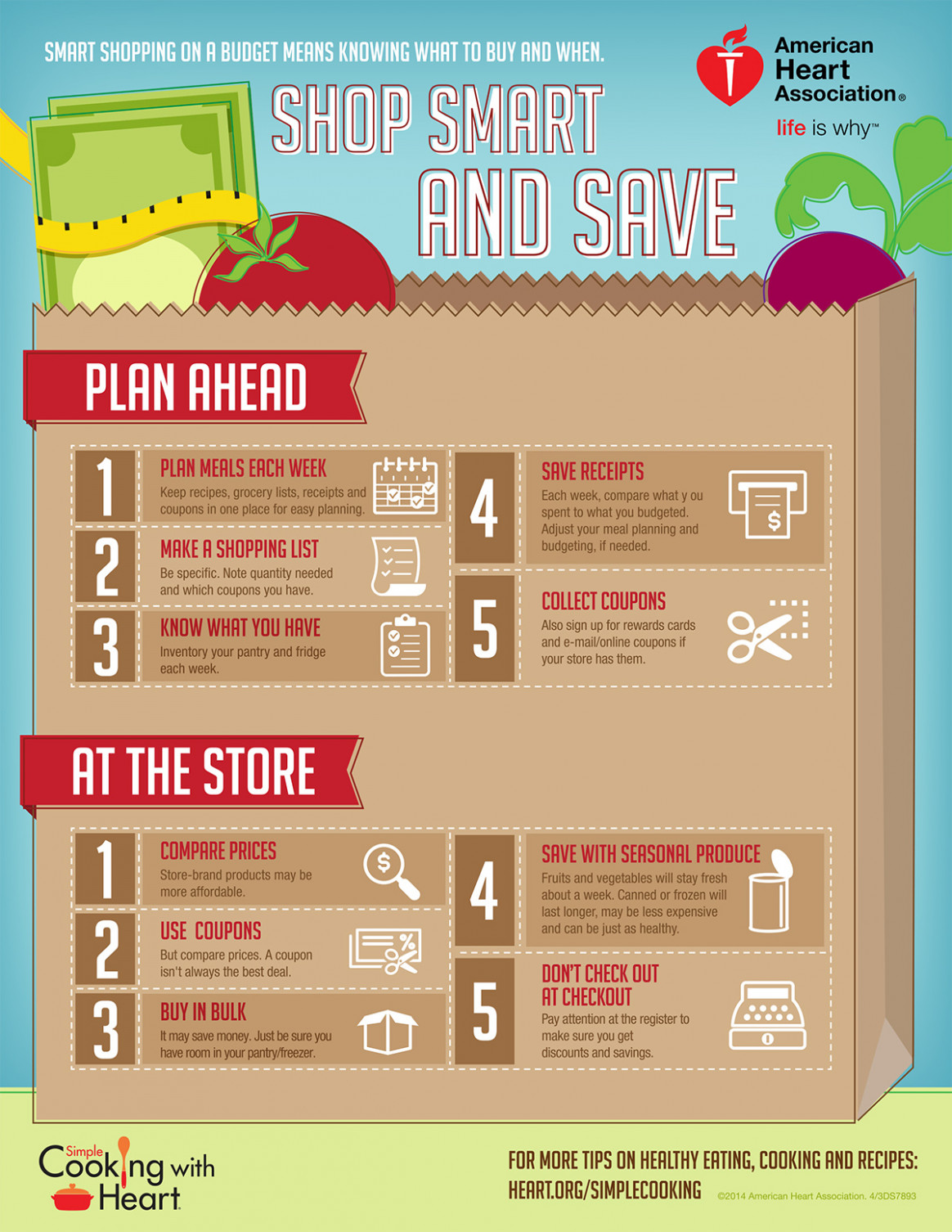 Shopping On A Budget Infographic | American Heart Association - Recipes Budget Healthy
