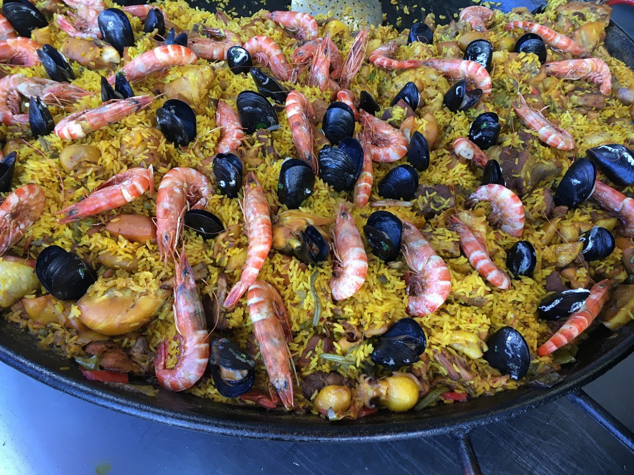 Shrimp, Paella, Seafood, Spanish, Dish - food recipes with shrimp