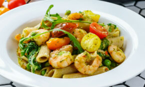 Shrimp Pasta With Pesto And Cherry Tomatoes – Healthy Recipes With Pesto