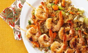Shrimp Skewers With Asian Quinoa – Dinner Recipes Quinoa