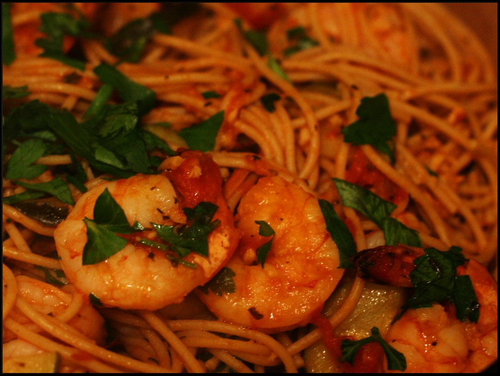 shrimp spaghetti - healthy food recipes