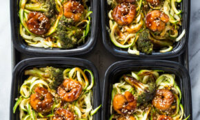 Shrimp Teriyaki Zucchini Noodles Meal Prep – Healthy Zoodle Recipes With Chicken