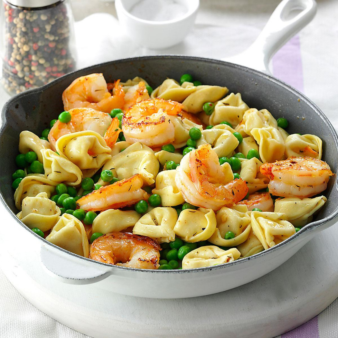 Shrimp Tortellini Pasta Toss Recipe | Taste of Home - healthy recipes taste