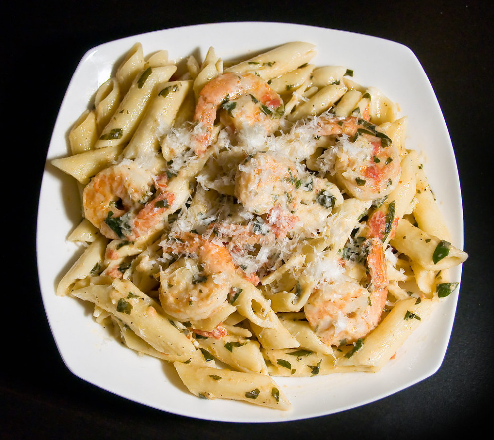 Shrimp With Penne In An Herbed Cream Sauce - Food Recipes For Dinner