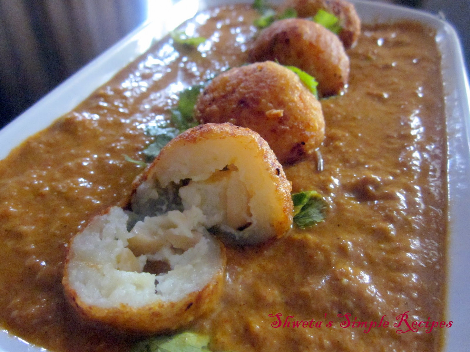 Shweta's Simple Recipes: Shahi Kofta Curry - recipe vegetarian kofta curry