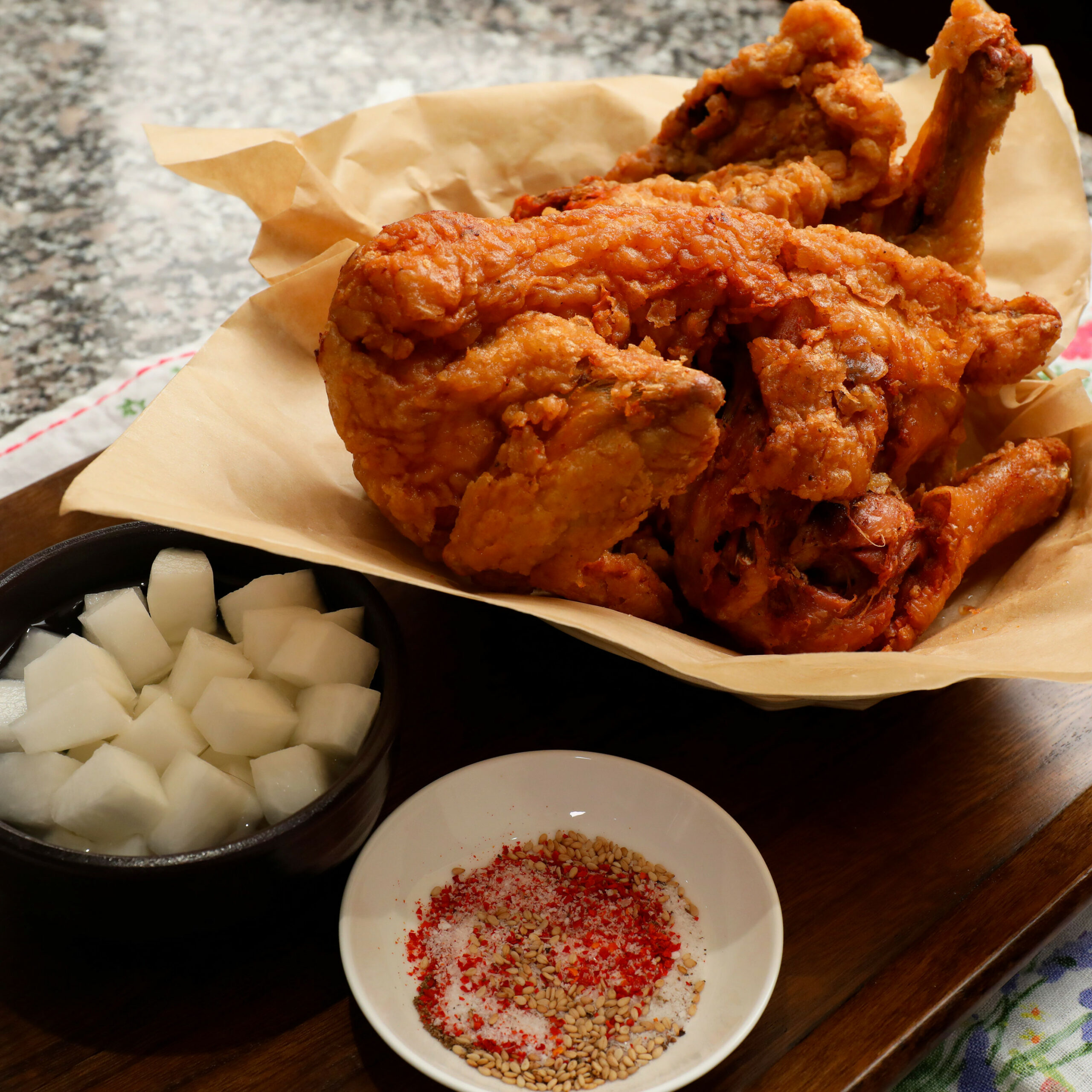 Sijang-tongdak - recipes korean fried chicken