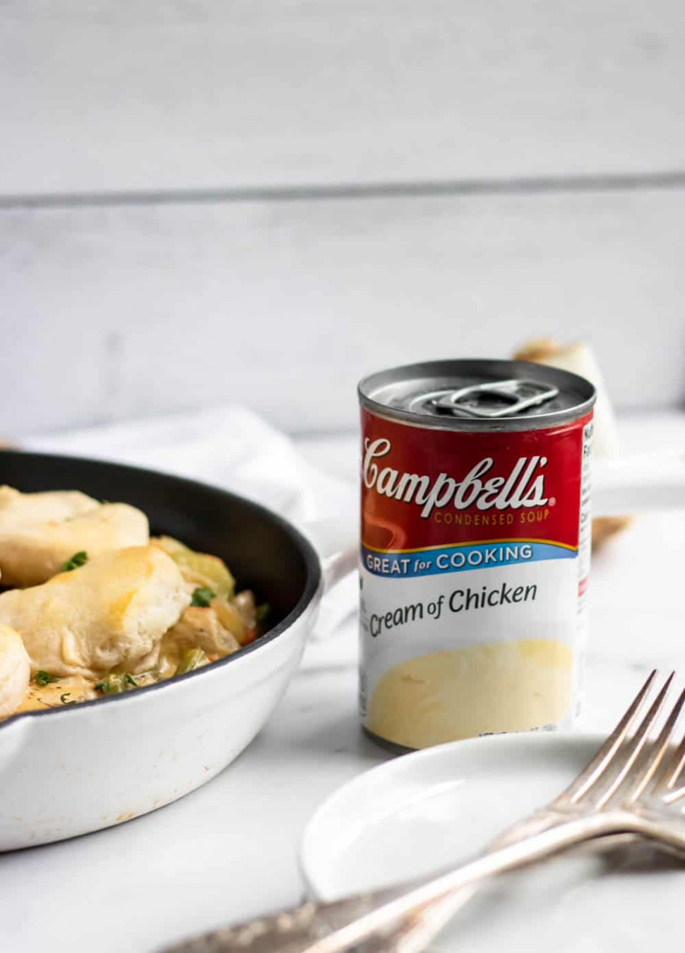 Simple Chicken And Biscuit Skillet | Lemons + Zest - Recipes Using Condensed Cream Of Chicken Soup