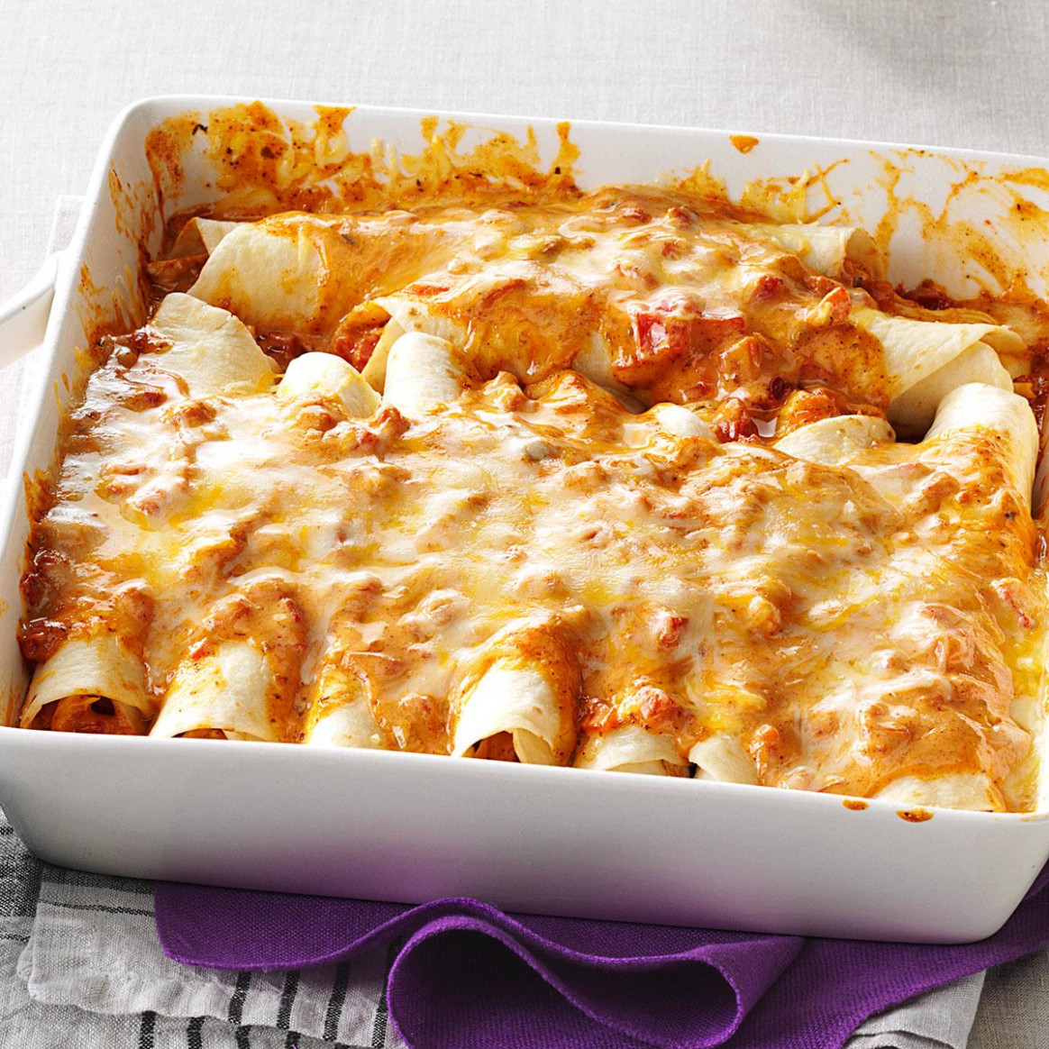 Simple Creamy Chicken Enchiladas - easy recipes chicken