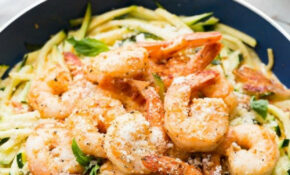 Simple Garlic Shrimp Alfredo With Zoodles | Recipe ..