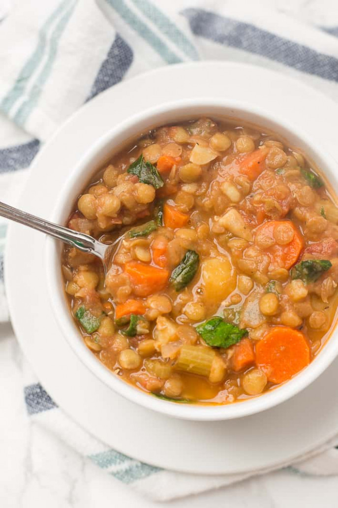 Simple, Hearty Vegan Lentil Soup Recipe - Healthy Liv - easy soup recipes vegetarian