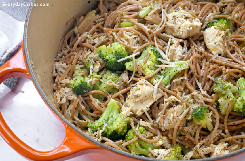 Simple One Pot Leftover Chicken and Broccoli Recipe Video - recipes using leftover chicken