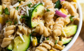 Simple Pasta Salad With Grilled Lemon Garlic Zucchini – Chicken Zucchini Pasta Recipes