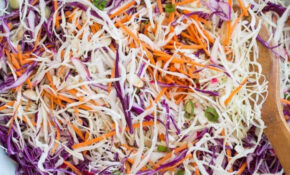 Simple Red Cabbage Salad Made With White Cabbage, Carrots ..