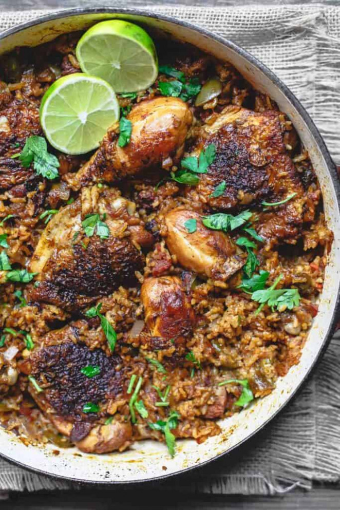 Simple Spanish Chicken and Rice Recipe with Chorizo | The ..