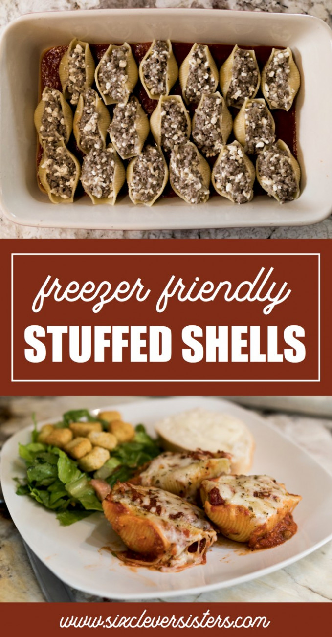 Simple Stuffed Shells Recipe - Six Clever Sisters - Great Dinner Recipes