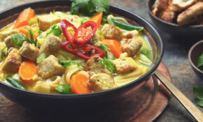 Simple Thai Noodle Soup With Quorn Meatless Chicken | US – Recipes Quorn Chicken