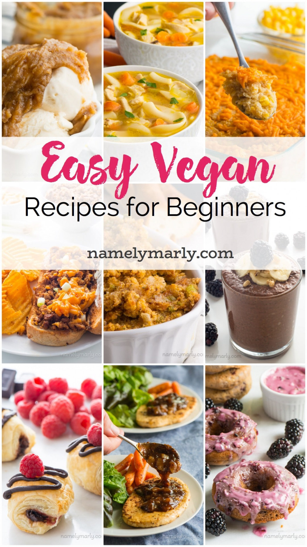 Simple Vegan Recipes for Beginners - Namely Marly - vegetarian recipes for beginners