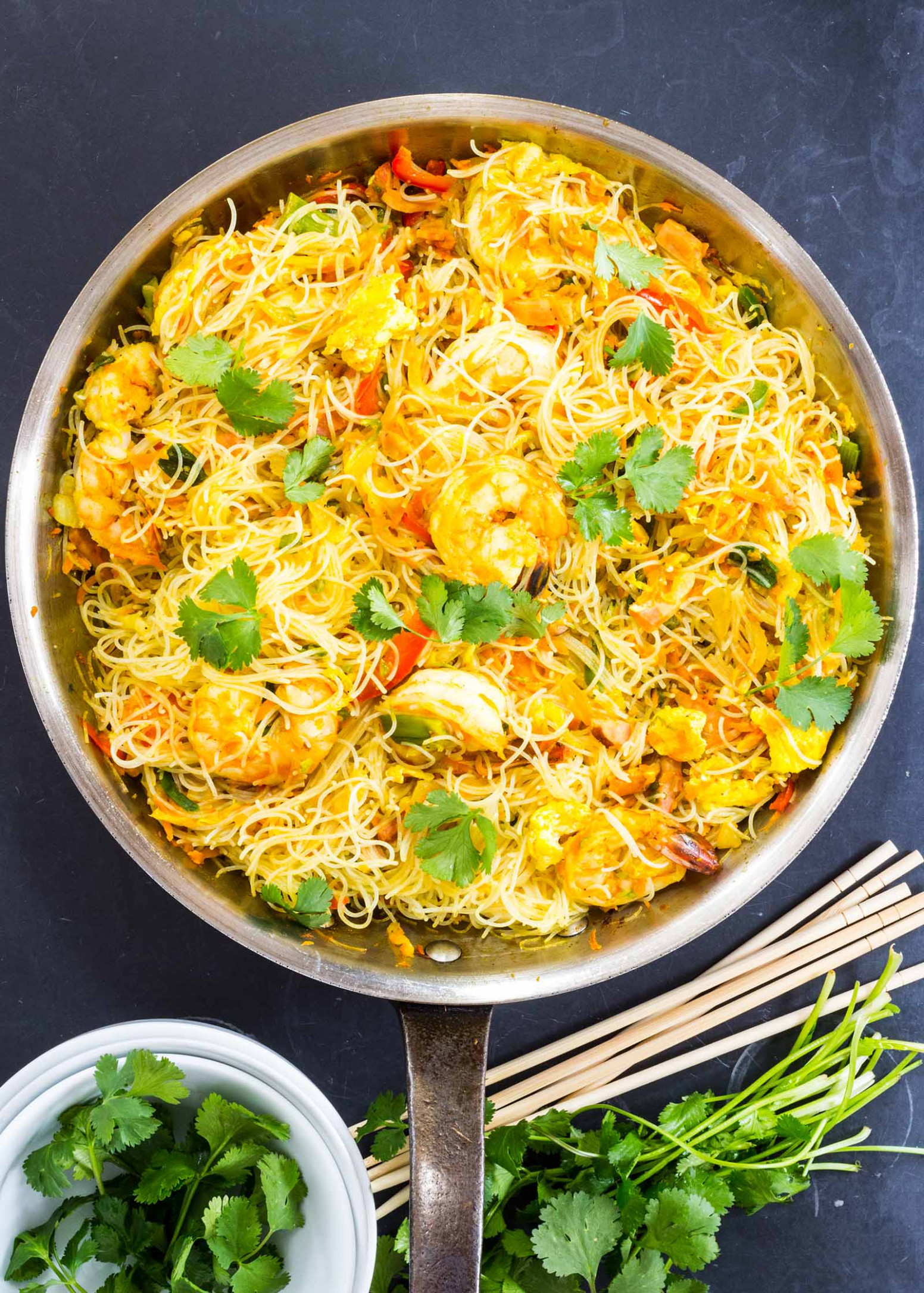 Singapore Noodles with Shrimp - recipes chinese food