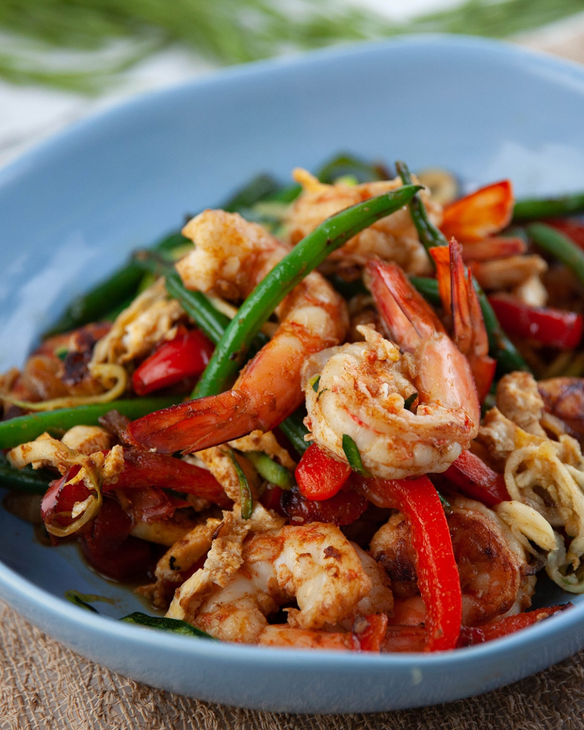 Singapore prawn zoodles - dinner recipes with zoodles