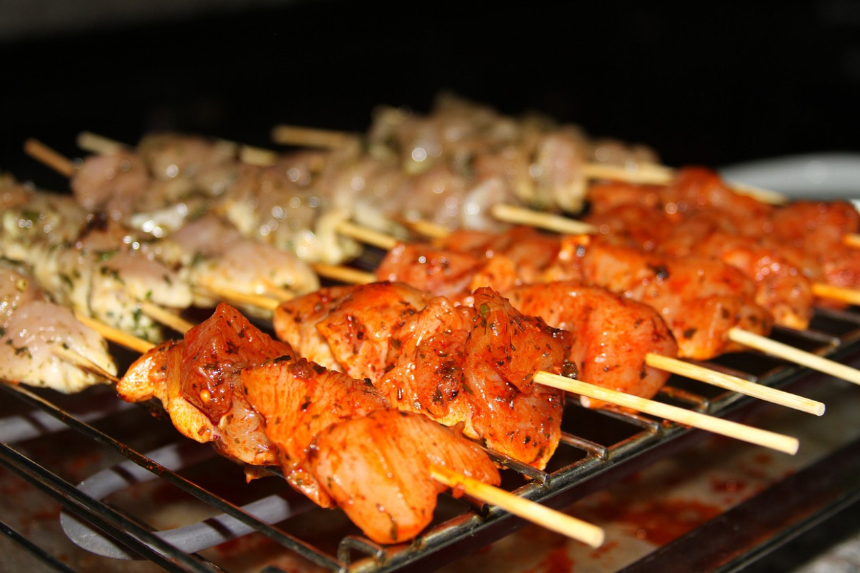 Skewer, White, Chicken, White Chicken - Recipes Of Chicken