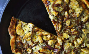 Skillet BBQ Chicken Pizza Recipe | Kitchen Swagger