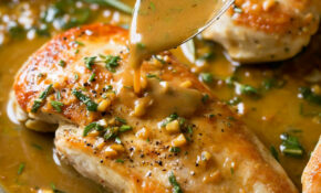 Skillet Chicken Recipe With Garlic Herb Butter Sauce ..