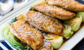 Skillet Chicken With Baby Bok Choy Recipe | SimplyRecipes