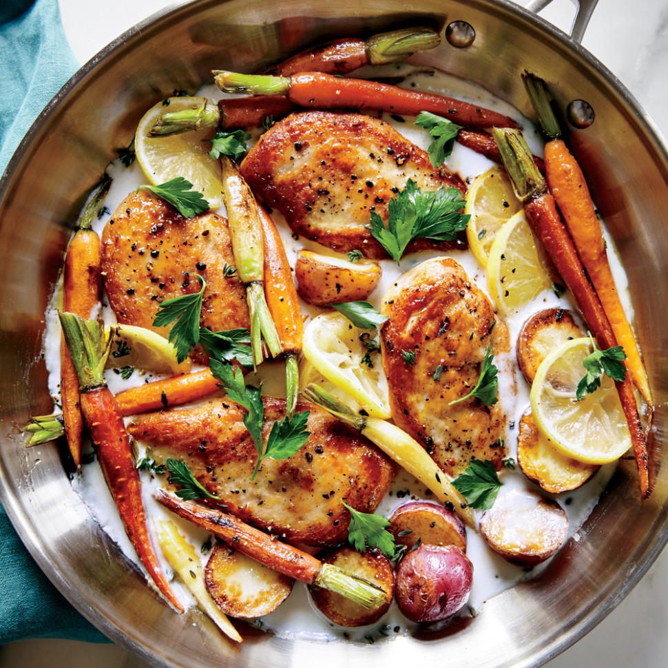 Skillet Chicken with Roasted Potatoes & Carrots Recipe ..