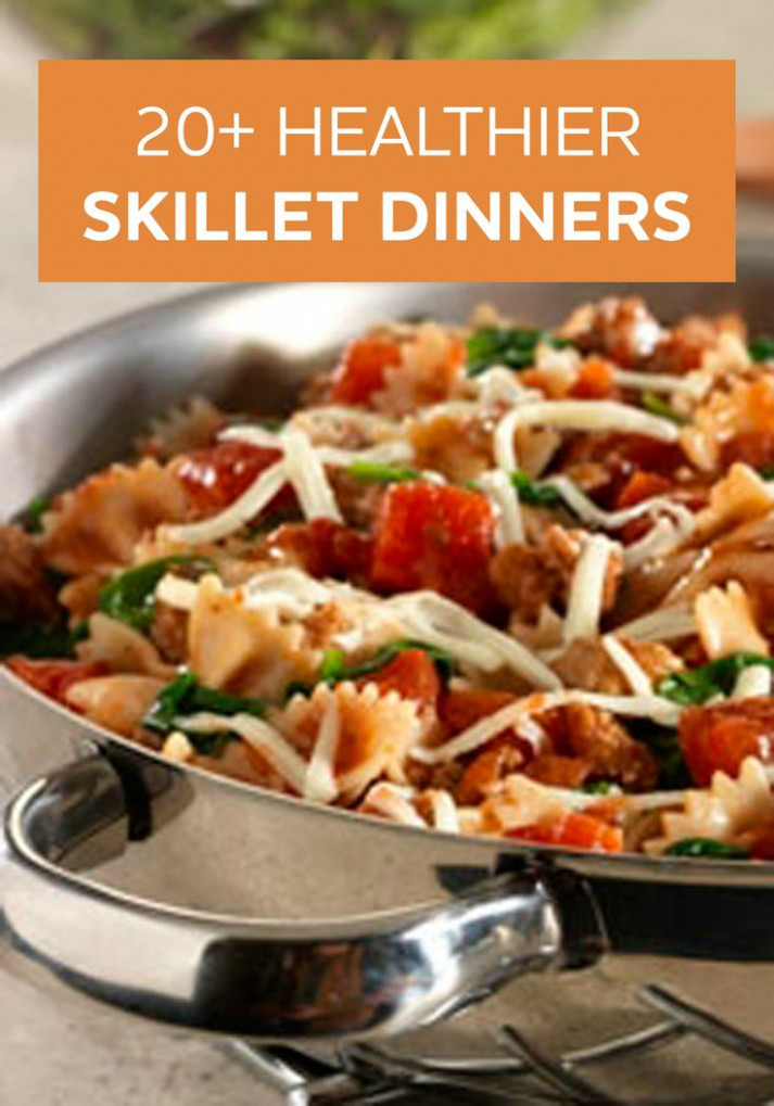Skillet dinners are easy to prepare and make clean up a ..