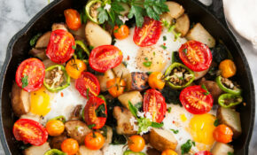 Skillet Eggs And Potato Garden Breakfast – Aberdeen's Kitchen – Egg Recipes Dinner Healthy
