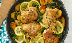 Skillet Lemon Chicken & Potatoes With Kale – Skillet Recipes Chicken
