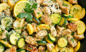 Skillet Lemon Parmesan Chicken With Zucchini – Cooking Classy – Recipes Zucchini And Chicken