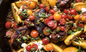 Skillet Moroccan Chicken With Tomatoes, Peaches, And Feta – Moroccan Food Recipes