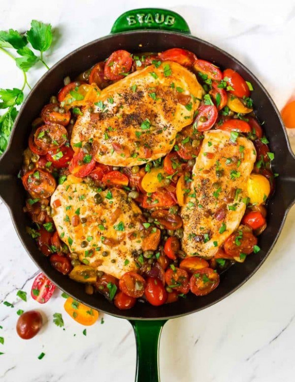 Skillet Tomato Chicken | Well Plated by Erin - healthy recipes chicken breast
