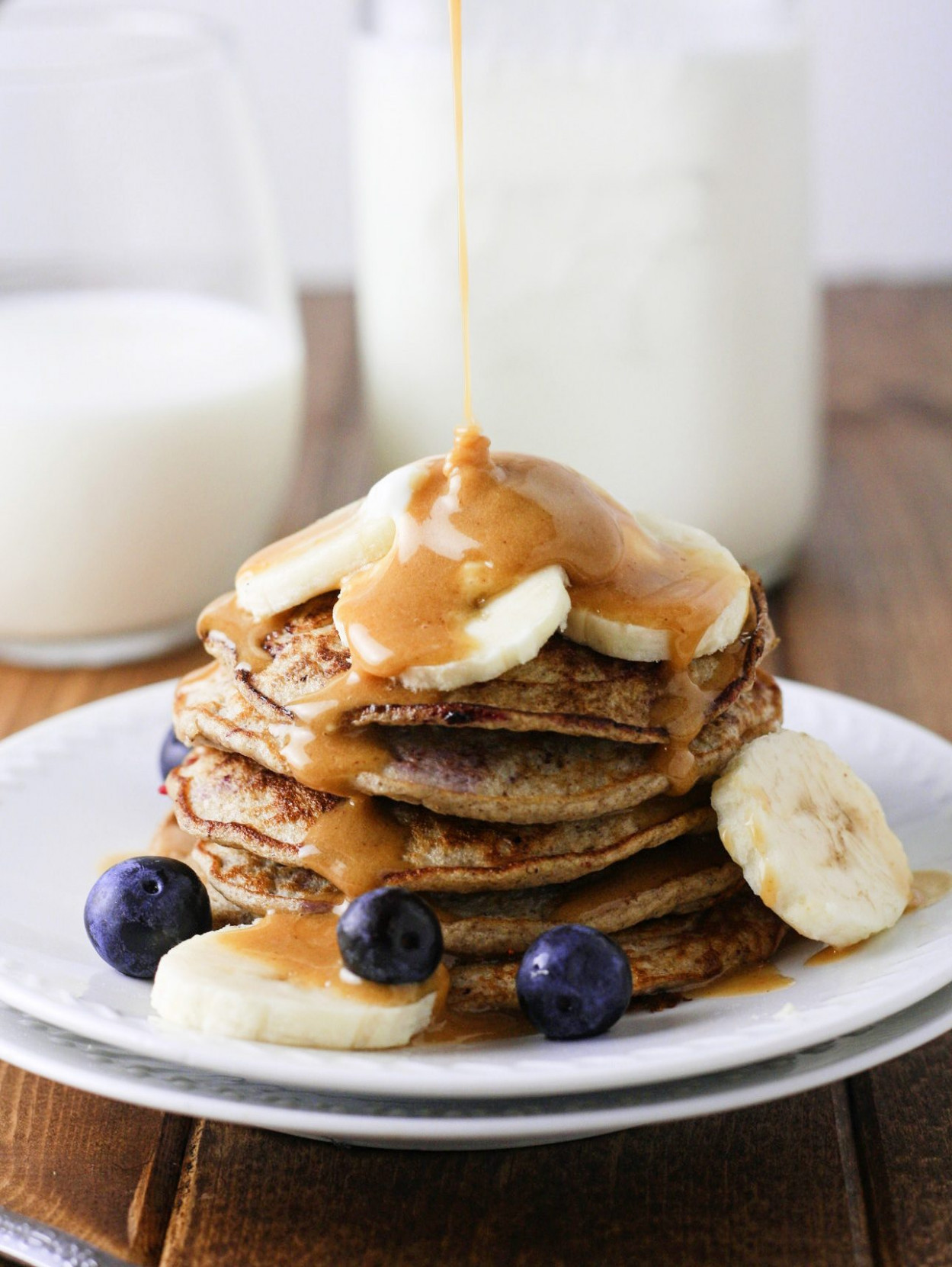 Skinny Banana Blueberry Pancakes - dinner recipes low fat