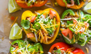 Skinny Low Carb Bell Pepper Tacos – No Carb Recipes Vegetarian
