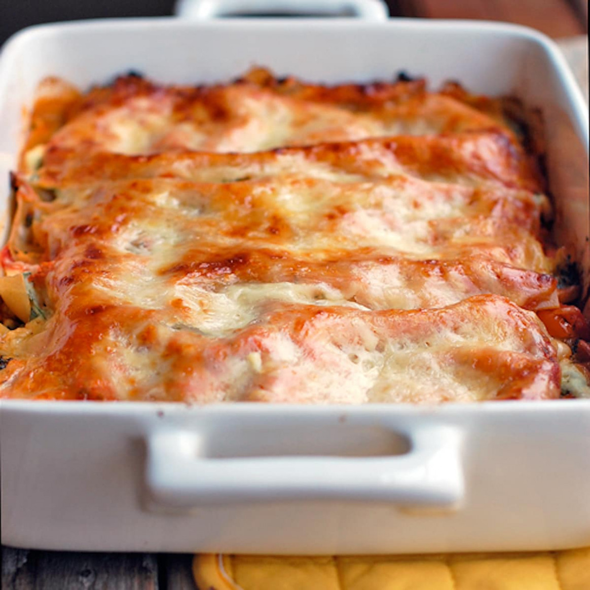 Skinny Veggie Lasagna Recipe - Pinch of Yum - recipes lasagna vegetarian