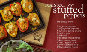 Slimming World Roasted Stuffed Peppers Recipe – YouTube – Dinner Recipes Slimming World