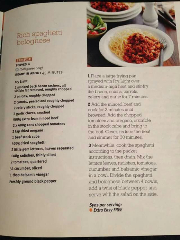Slimming World Spaghetti Bolognese | Food Ideas in 2019 ..