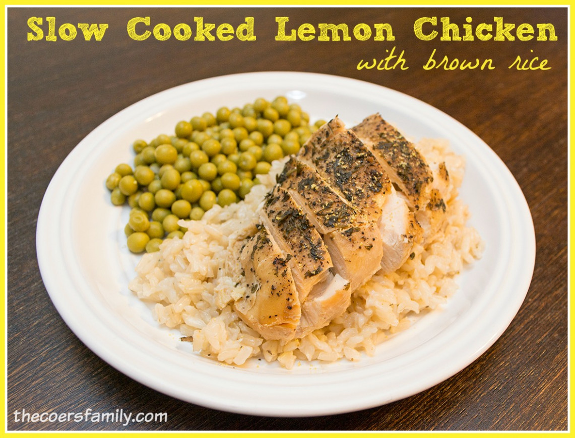 Slow Cooked Lemon Chicken with Brown Rice - THM E Meal ..