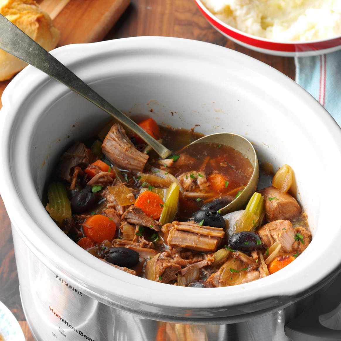 Slow-Cooked Pork Stew - slow cooker recipes nz vegetarian