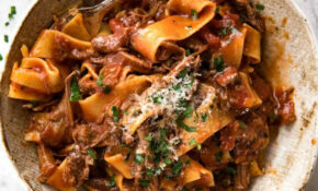 Slow Cooked Shredded Beef Ragu Pasta – Food Recipes Beef