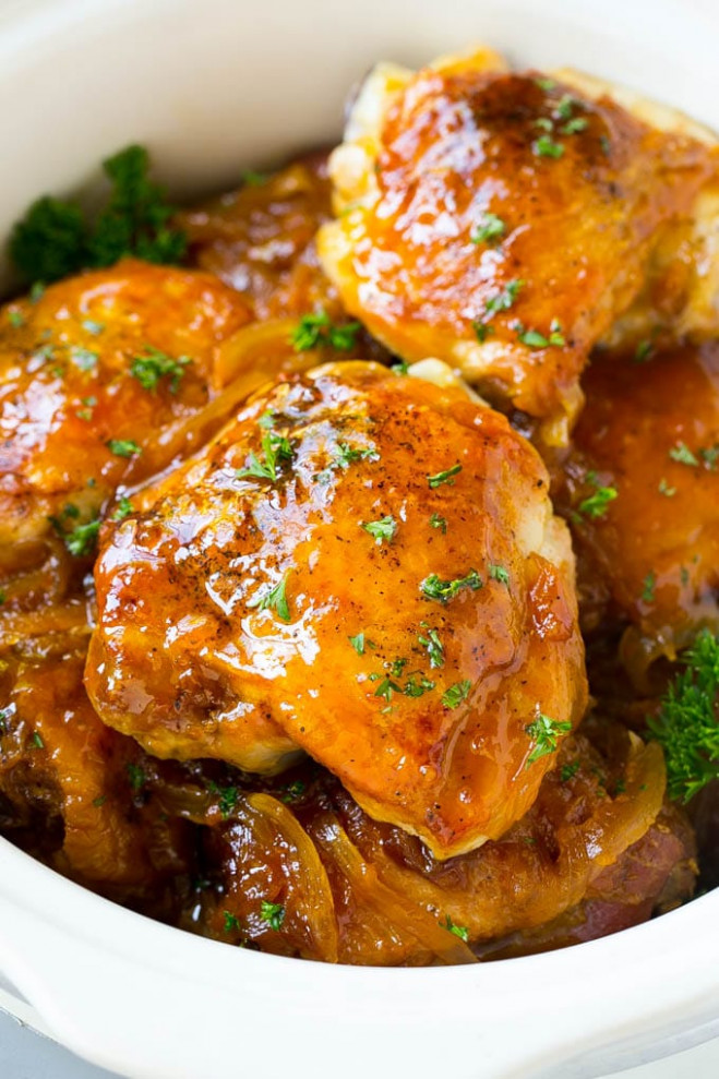 Slow Cooker Apricot Chicken - Dinner at the Zoo - chicken recipes slow cooker