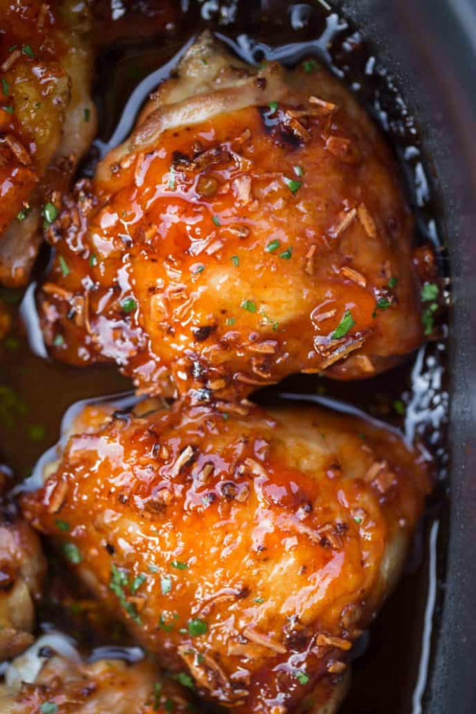 Slow Cooker Apricot Chicken - Dinner, then Dessert - recipes apricot chicken