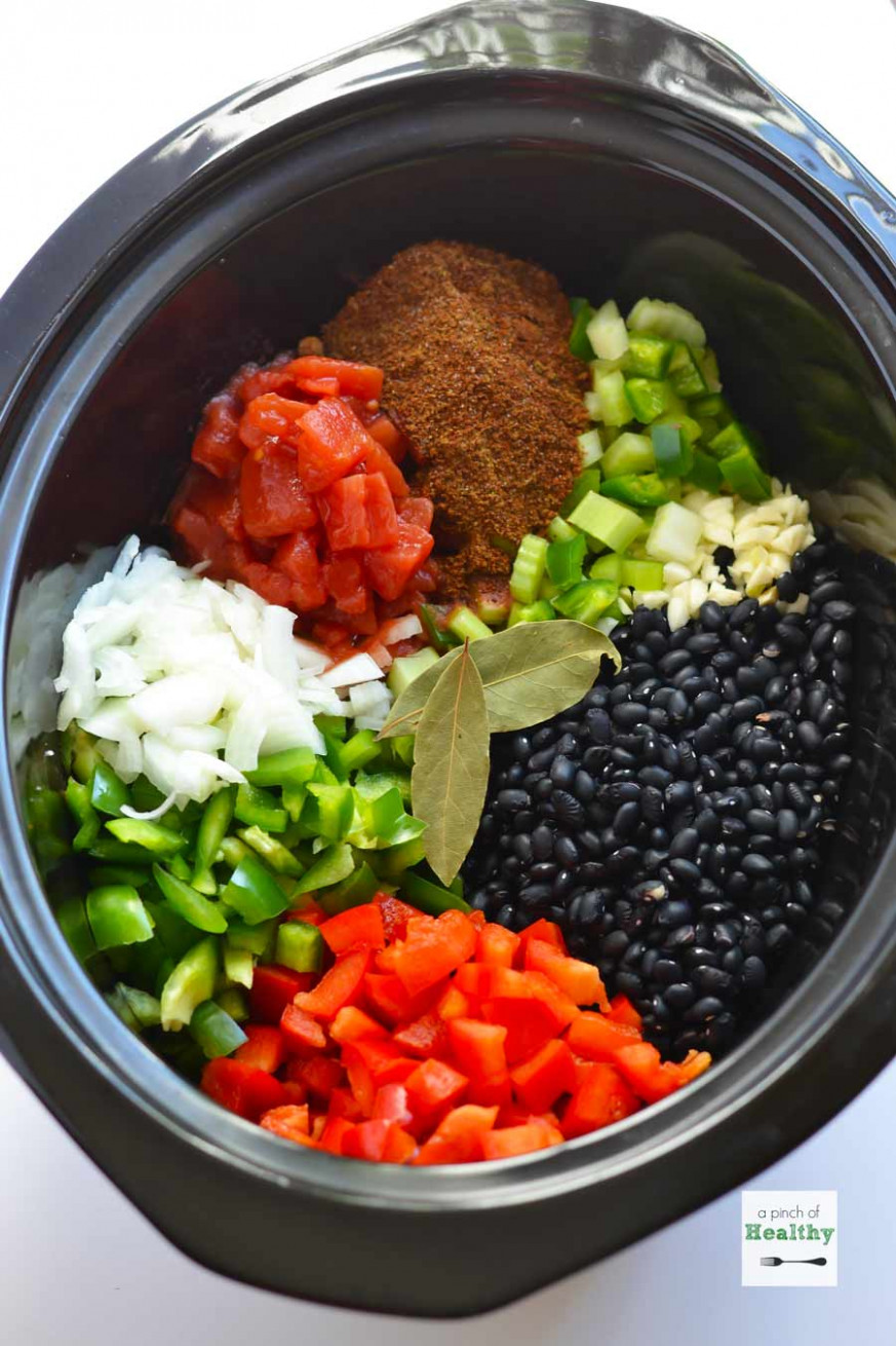 Slow Cooker Black Bean Soup - A Pinch of Healthy - black bean recipes vegetarian