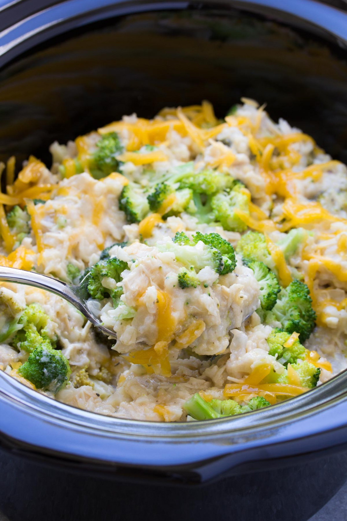 Slow Cooker Chicken, Broccoli and Rice Casserole - recipes in slow cooker chicken