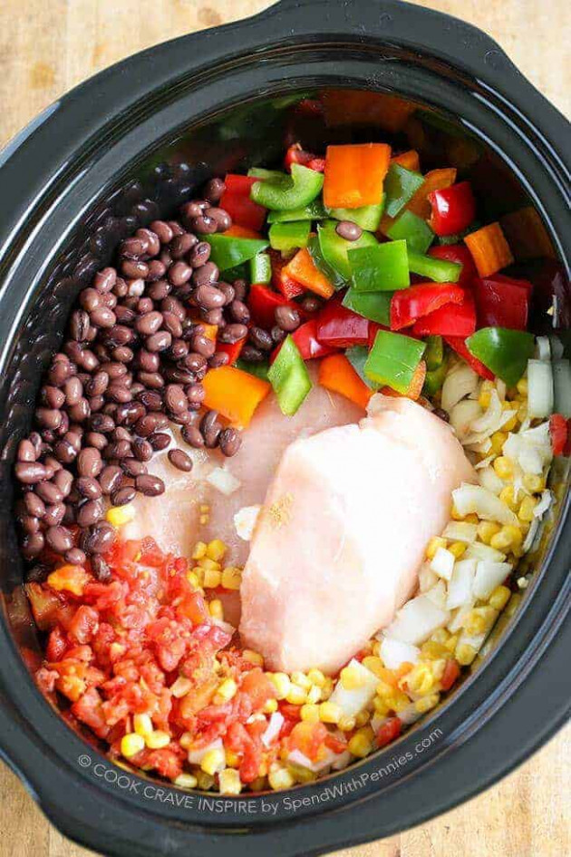 Slow Cooker Chicken Chili Hearty & Healthy - Spend With ..