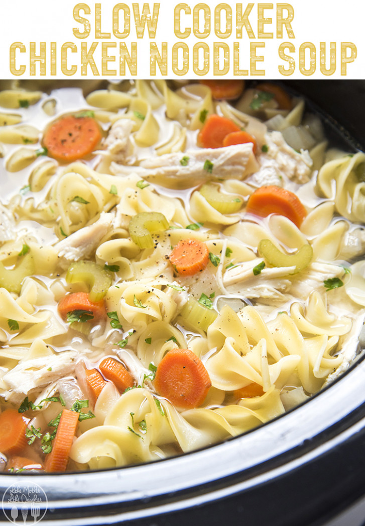 Slow Cooker Chicken Noodle Soup - easy slow cooker recipes chicken